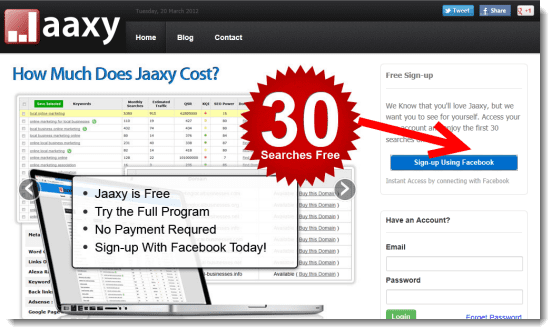 Jaxxy 30 Free Keyword Searches