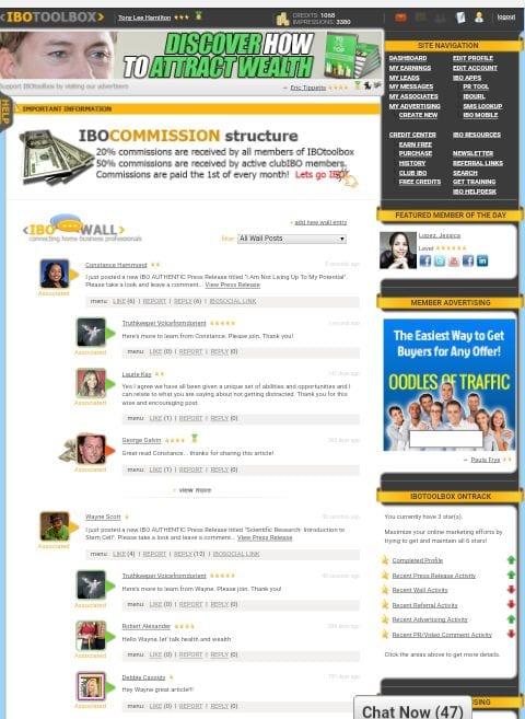 IBOtoolbox dashboard