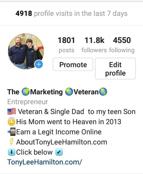The marketing Veteran on Instagram