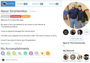 Tony Lee Hamilton Marketing Veteran