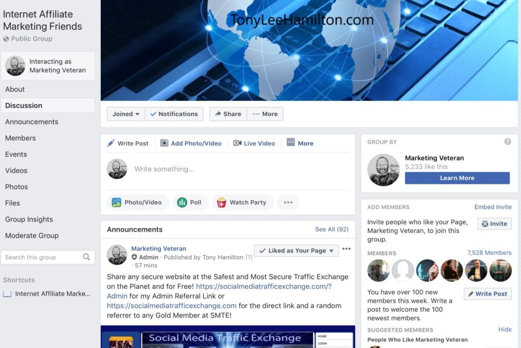 Facebook Group for sharing your Business and/or Opportunity