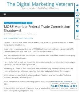 MOBE FTC Shuts down