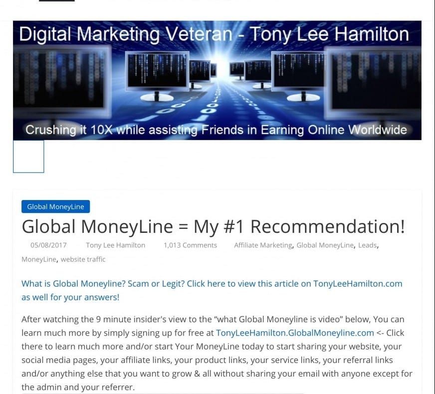 What is Global MoneyLine