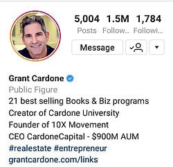 Grant Cardone Instagram