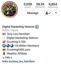 Tony Lee Hamilton on Instagram