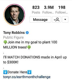 Tony Robbins Instagram