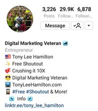 Instagram Tony Lee Hamilton