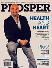 Alexy Goldstein New U Life Prosper Magazine Cover